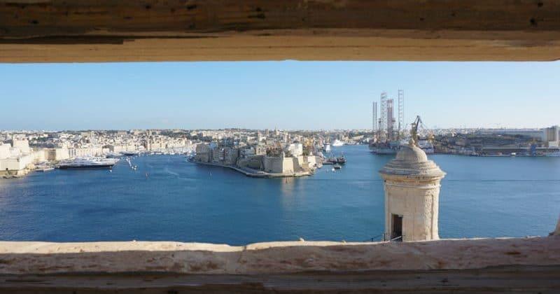 Opazovalnica nad pristaniščem v Valletti